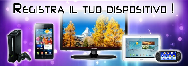 Registra il tuo dispositivo